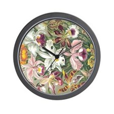 Orchidae Flowers Wall Clock