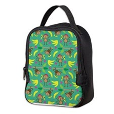 Boy and Girl Monkeys Neoprene Lunch Bag