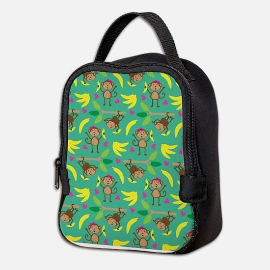Boy and Girl Monkeys Neoprene Lunch Bag