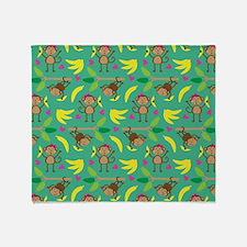 Boy and Girl Monkeys Throw Blanket