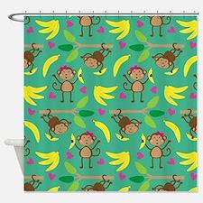 Boy and Girl Monkeys Shower Curtain