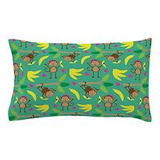 Boy and Girl Monkeys Pillow Case