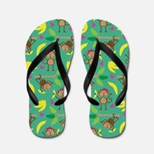 Boy and Girl Monkeys Flip Flops