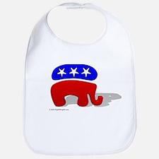 3D GOP Republican Elephant Bib