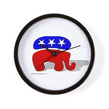 3D GOP Republican Elephant Wall Clock