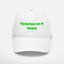 Vegetarians Run On Biofuel Baseball Baseball Cap