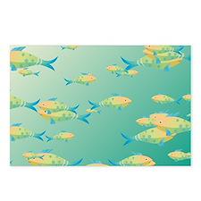 Underwater scene Postcards (Package of 8)