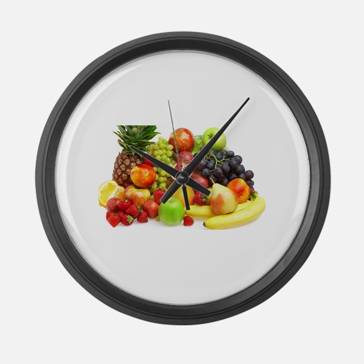 Mixed Fruits Large Wall Clock
