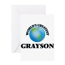 World's Greatest Grayson Greeting Cards