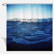 Funny Bleu Shower Curtain