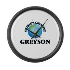World's Greatest Greyson Large Wall Clock