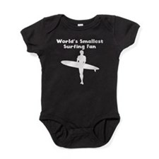 Worlds Smallest Surfing Fan Baby Bodysuit