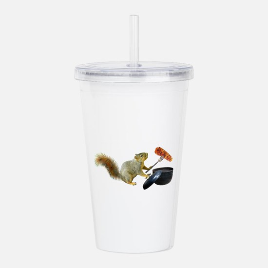Squirrel BBQ Acrylic Double-wall Tumbler