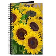 Yellow summer sunflowers Journal