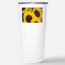 Yellow summer sunflower Stainless Steel Travel Mug