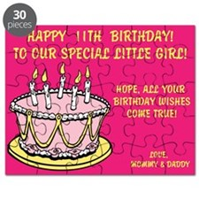 Happy 11th, Birthday Card Puzzle