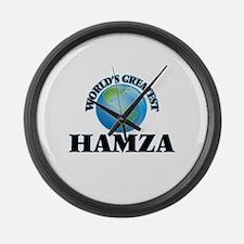 World's Greatest Hamza Large Wall Clock