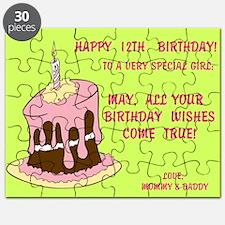 Happy 12th, Birthday Card Puzzle