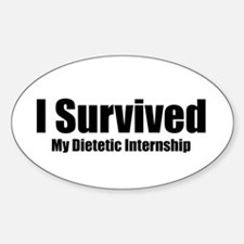 Dietetic Intern Oval Decal