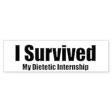 Dietetic Intern Bumper Bumper Sticker