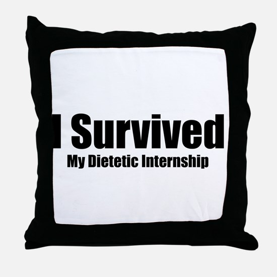 Dietetic Intern Throw Pillow