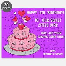 Happy 13th, Birthday Card Puzzle