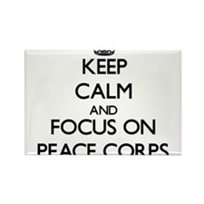 Keep Calm and focus on Peace Corps Magnets