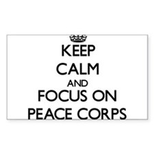 Keep Calm and focus on Peace Corps Decal