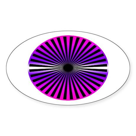 Pink Wheel Oval Sticker