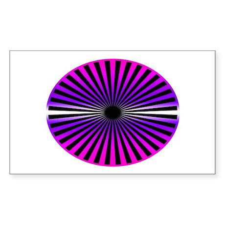Pink Wheel Rectangle Sticker