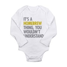 Its A Homebrew Thing Long Sleeve Infant Bodysuit