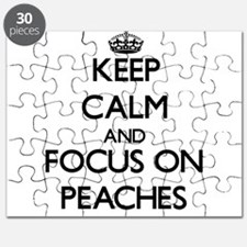 Keep Calm and focus on Peaches Puzzle