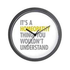 Its A Homeopathy Thing Wall Clock