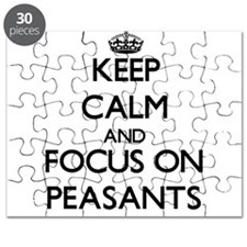 Keep Calm and focus on Peasants Puzzle