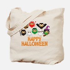 Halloween Owls in Costume Tote Bag