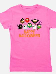 Halloween Owls in Costume Girl's Tee