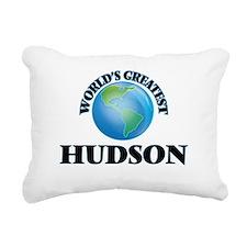 World's Greatest Hudson Rectangular Canvas Pillow