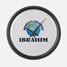 World's Greatest Ibrahim Large Wall Clock