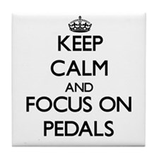 Keep Calm and focus on Pedals Tile Coaster