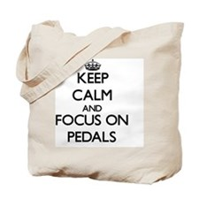 Keep Calm and focus on Pedals Tote Bag