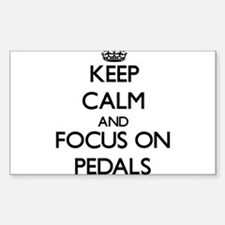 Keep Calm and focus on Pedals Decal