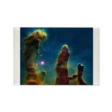 Gas pillars in the Eagle Nebula Magnets