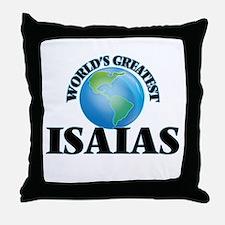 World's Greatest Isaias Throw Pillow