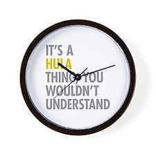Its A Hula Thing Wall Clock