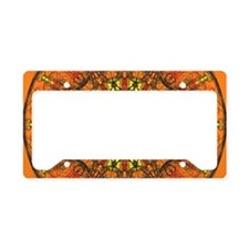 Harmony in Orange License Plate Holder