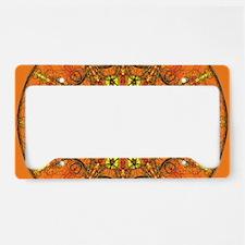 Harmony in Orange License Plate Holder