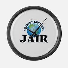 World's Greatest Jair Large Wall Clock