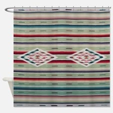Southwest Green Saltillo Shower Curtain