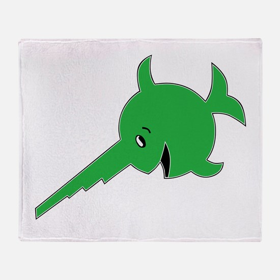 9th U-boat Flotilla_Laughing Sawfish Throw Blanket