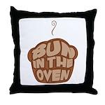 Bun In The Oven Chocolate Throw Pillow